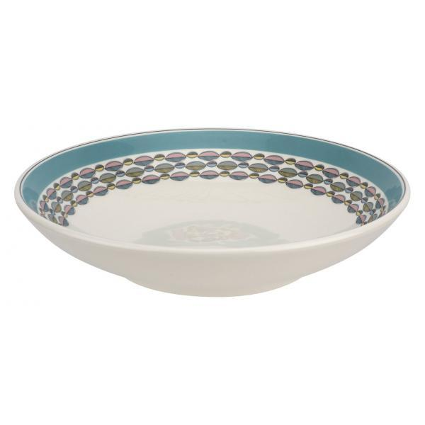 "Portmeirion Westerly Turquoise Low Bowl Serving 10""/ 25.5cm"