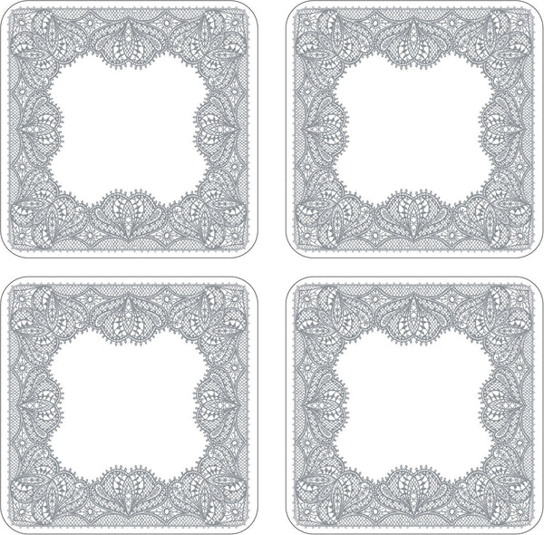 Portmeirion Glamour Lace Coasters 10.5cm (Set of 4)