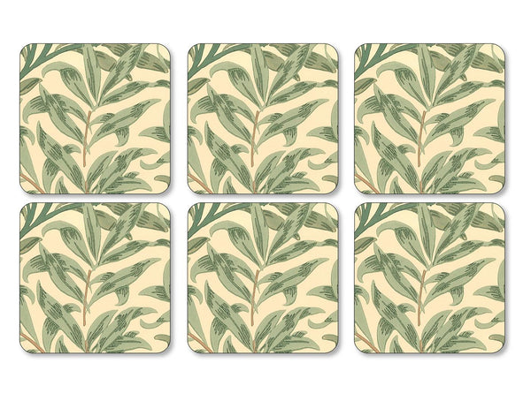 Pimpernel Willow Bough Green Coasters 10.5cm (Set of 6)