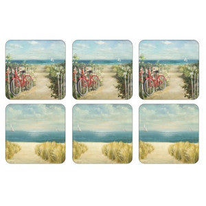 Pimpernel Summer Ride Coasters 10.5cm By 10.5cm (Set Of 6)