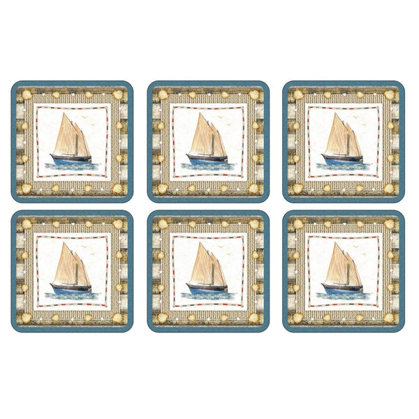 Pimpernel Coastal Breeze Coasters 10.5cm (Set of 6)