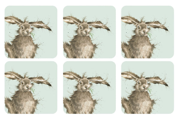 Royal Worcester Wrendale Designs Hare Coasters 10.5cm