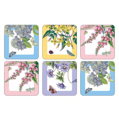 Pimpernel Botanic Garden Coasters 10.5 by 10.5cm (Set of 6)