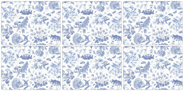 Portmeirion Botanic Blue Set of 6 Placemats 30.5cm by 23cm