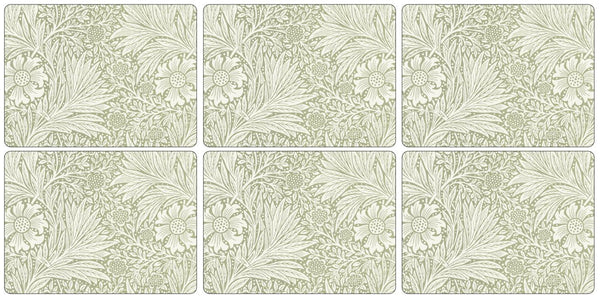 Pimpernel Marigold Green Placemats 30.5cm by 23cm (Set of 6)