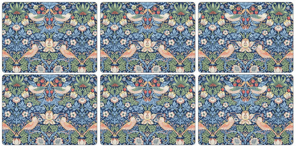 Pimpernel Strawberry Thief Blue Placemats 30.5cm by 23cm (Set of 6)
