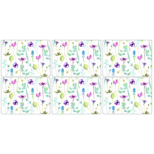 Portmeirion Water Garden Placemats 30.5cm by 23cm (Set of 6)