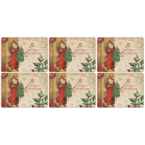 Pimpernel Victorian Christmas Placemats 30.5cm By 23cm (Set Of 6)