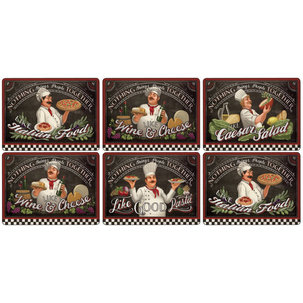 Pimpernel Chefs Special Placemats 30.5cm By 23cm (Set Of 6)