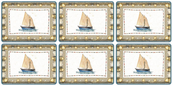 Pimpernel Coastal Breeze Placemats 30.5cm by 23cm (Set of 6)