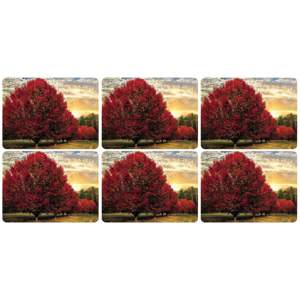 Pimpernel Crimson Trees Placemats 30.5cm by 23cm (Set of 6)