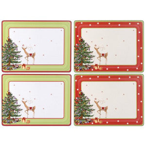 Pimpernel Christmas Jubilee Placemats 40.1cm By 29.8cm (Set Of 4)