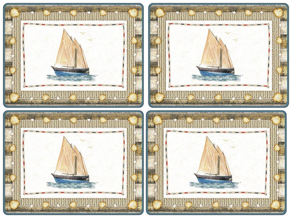 Pimpernel Coastal Breeze Placemats 40.1cm by 29.8cm (Set of 4)