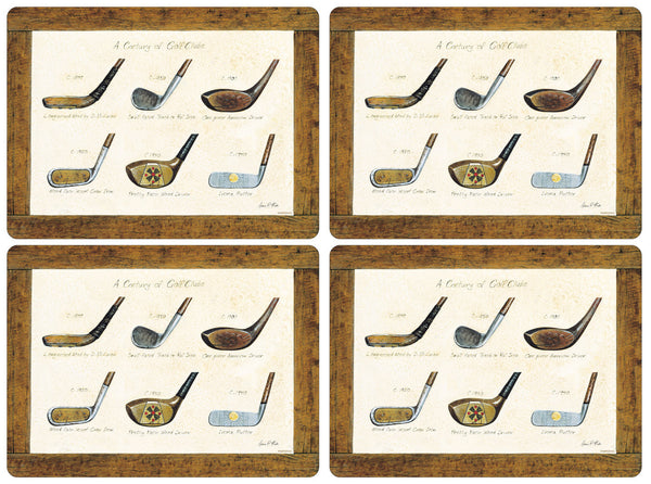 Pimpernel A History of Golf Large Placemats 40cm by 30cm (Set of 4)