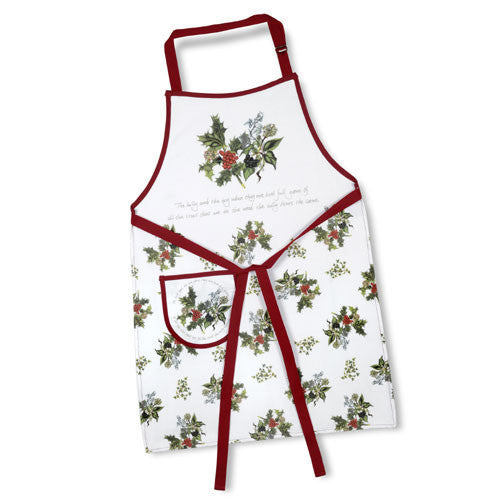 Portmeirion The Holly and The Ivy Cotton Drill Apron