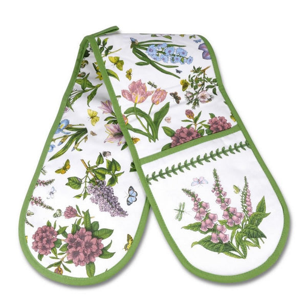 Portmeirion Botanic Garden Chintz Double Oven Glove 18cm by 88cm