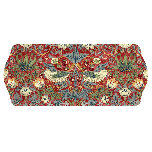 Pimpernel Strawberry Thief Red Sandwich Tray 38.5cm by 16.5cm