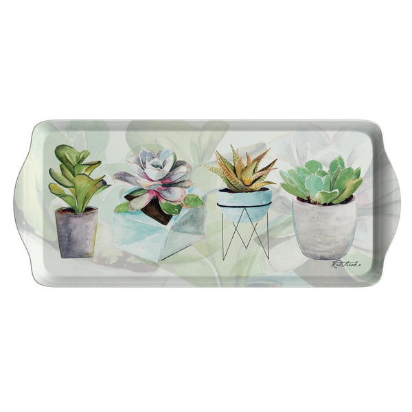 Pimpernel Succulents Sandwich Tray 38.5 by 16.5cm