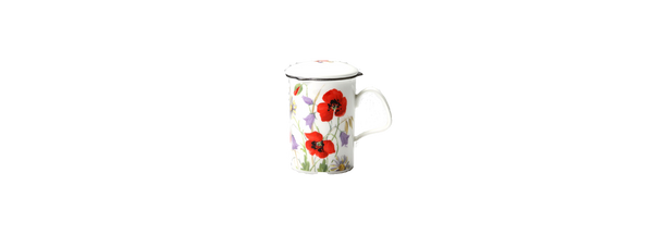 Roy Kirkham English Meadow Lancaster Mug with infuser