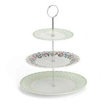 Roy Kirkham Meadow Flowers 3 Tier Rimmed Cake Stand