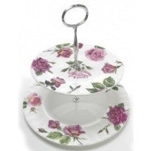 Roy Kirkham Rose Du Temps 2 Tier Cake Stand