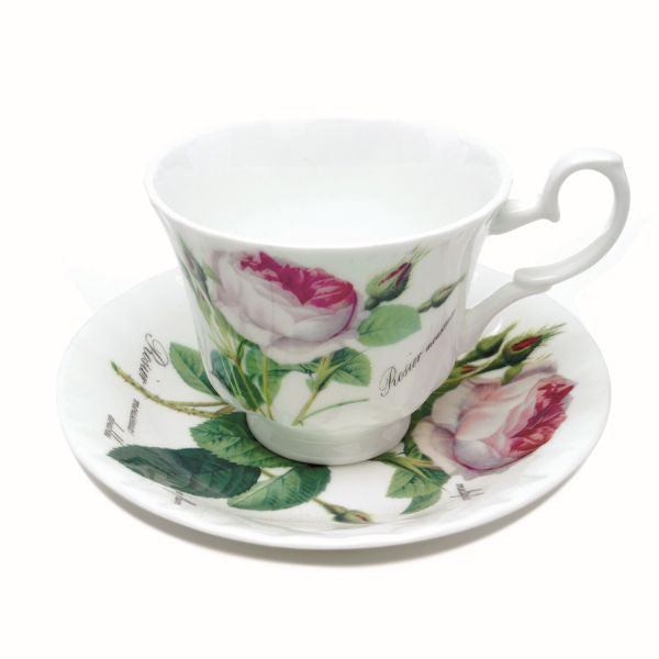 Roy Kirkham Redoute Rose Espresso Cup and Saucer
