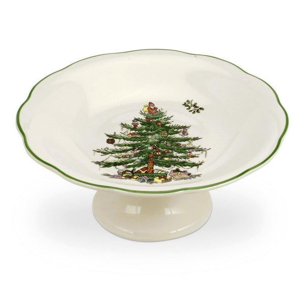 Spode Christmas Tree Sculpted Footed Candy Dish 18cm