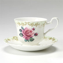 Roy Kirkham Vintage Rose Teacup and Saucer