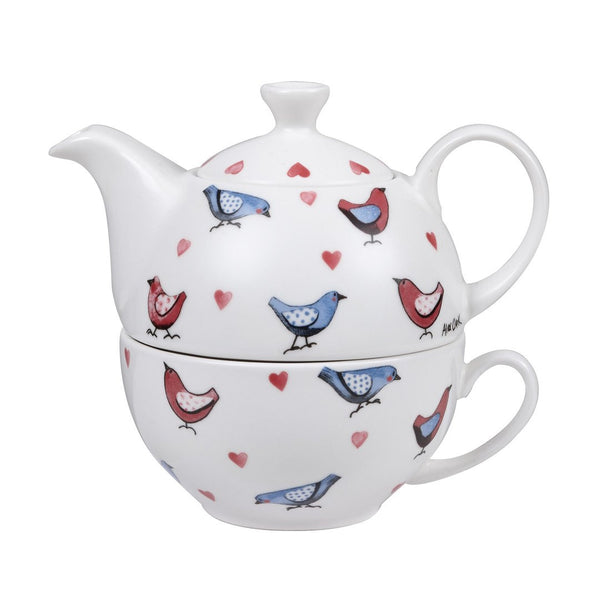 Alex Clark Lovebirds Tea For One