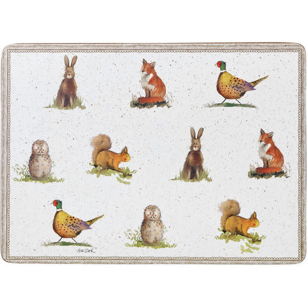 Alex Clark Wildlife Placemats 29cm by 21cm (Set of 6)