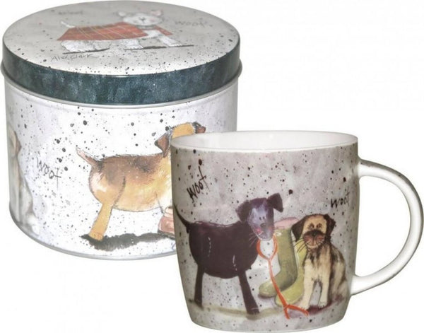Alex Clark Dogs Mug in Tin 0.29L