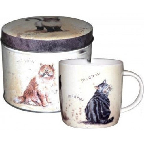 Alex Clark Cats Mug in Tin 0.29L