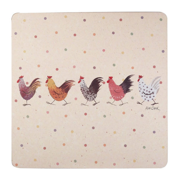 Alex Clark Rooster Placemats (Set of 4)