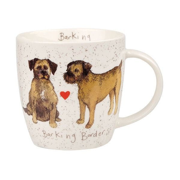 Alex Clark Mugs Border Terrier Squash Mug 0.39L