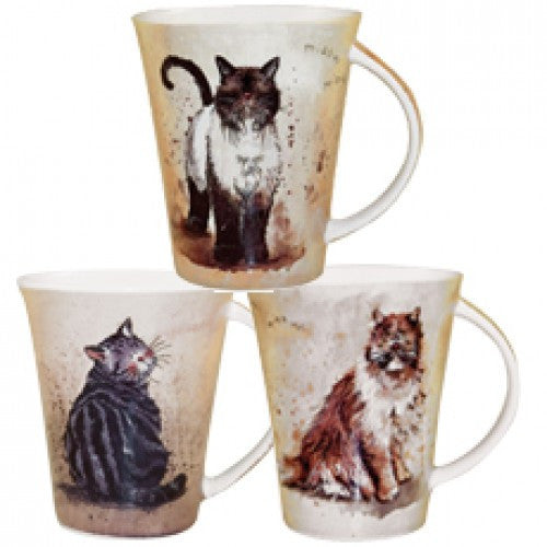 Alex Clark Cats Mug 0.37L (Set of 6)