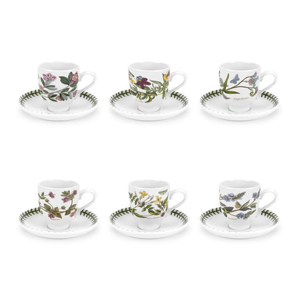 Portmeirion Botanic Garden Coffee Cup And Saucer (Assorted  Designs)