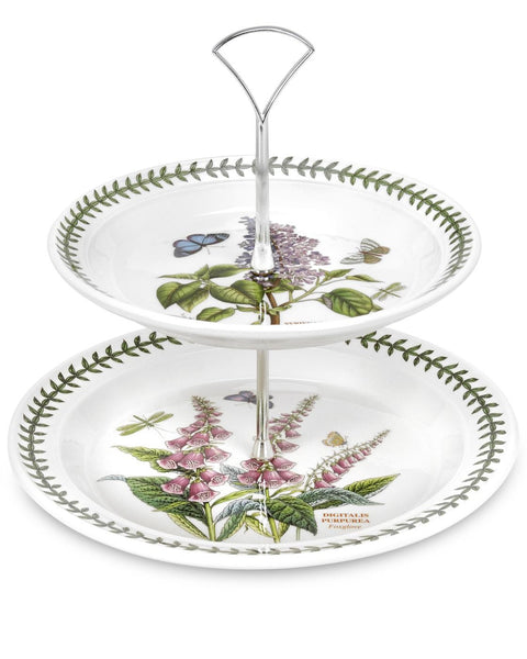 Portmeirion Botanic Garden Tier Cake Stand 8in By 10in