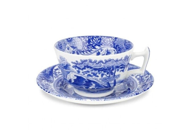 Spode Blue Italian Breakfast Cup and Saucer 0.28L (Set of 4)