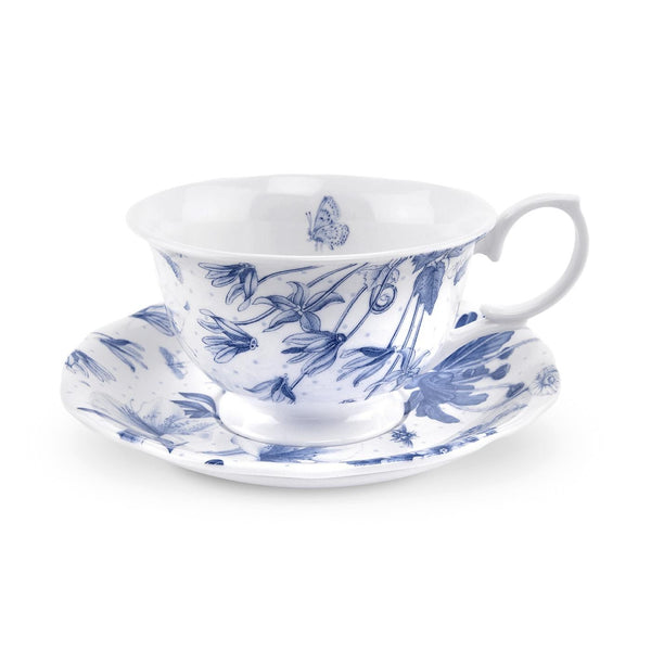 Portmeirion Botanic Blue Cup and Saucer 0.17L