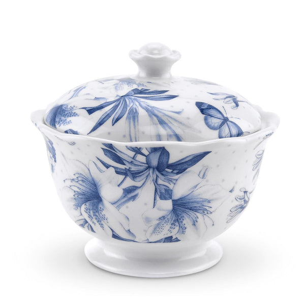 Portmeirion Botanic Blue Sugar Bowl 10.5cm