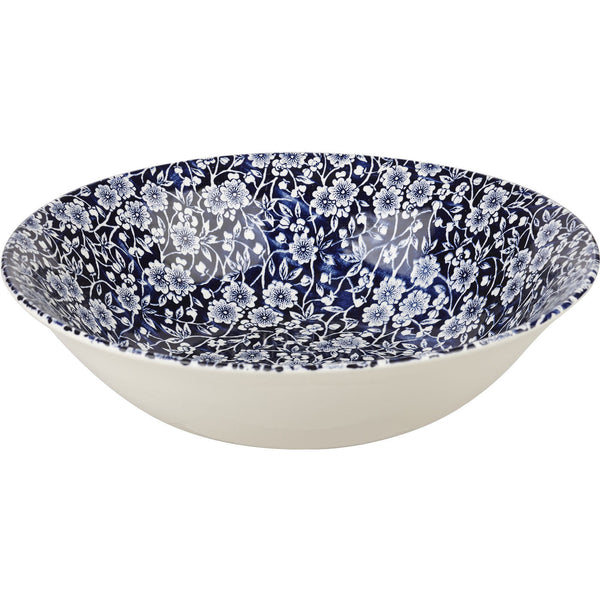Churchill China Victorian Calico Blue Salad Bowl 24cm