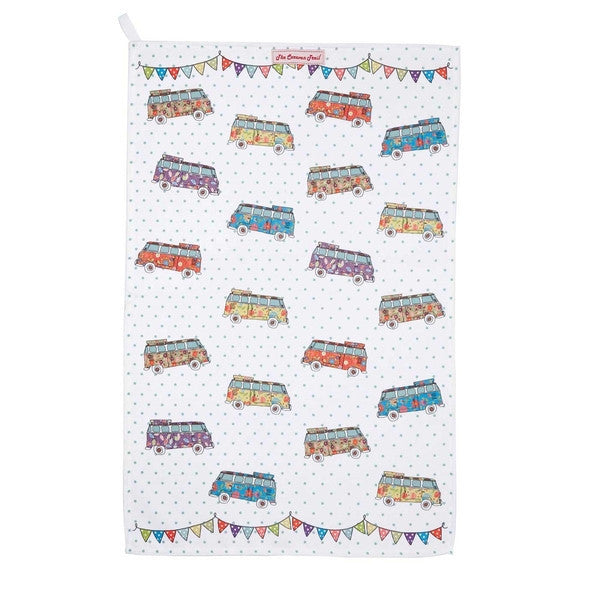 Churchill China The Caravan Trail Beach Break Tea Towel