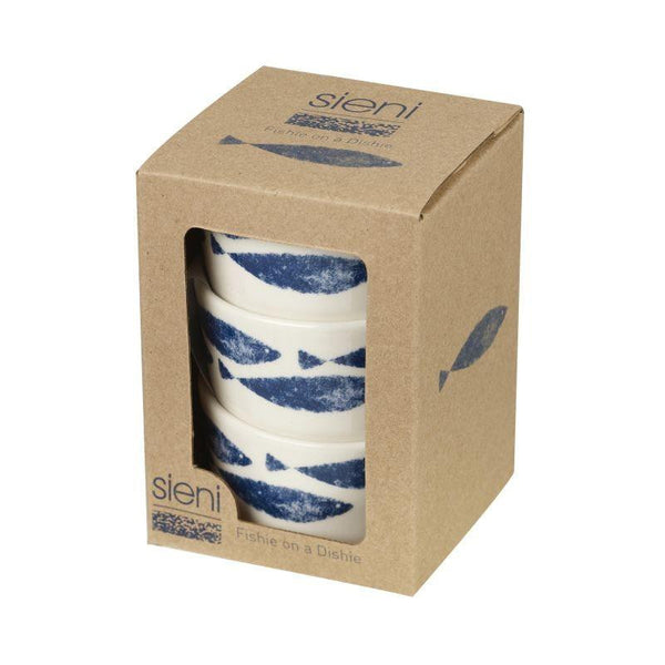 Churchill China Couture Fishie 3 Piece Dip Set 150ml