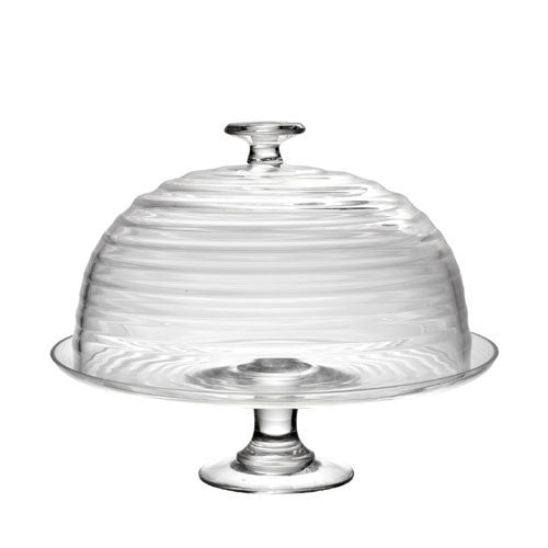 Portmeirion Sophie Conran Glass Cake Stand and Dome 30cm