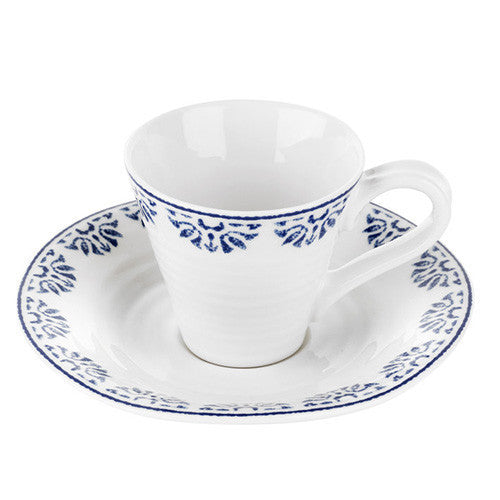 Portmeirion Sophie Conran Blue Betty Espresso Cup and Saucer 0.08L