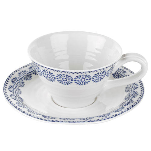 Portmeirion Sophie Conran Blue Florence Teacup and Saucer 0.30L