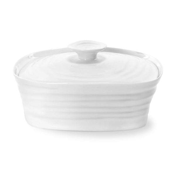 Portmeirion Sophie Conran White Covered Butter Dish