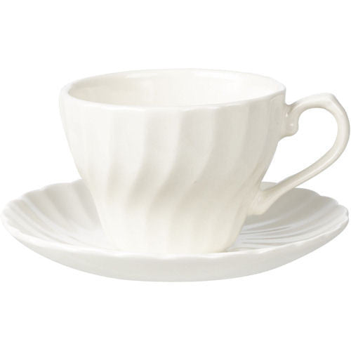 Churchill China Chelsea White Teacup and Saucer 200ml (Set of 6)