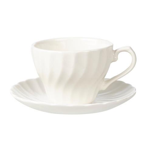 Churchill China Chelsea White Teacup and Saucer 200ml