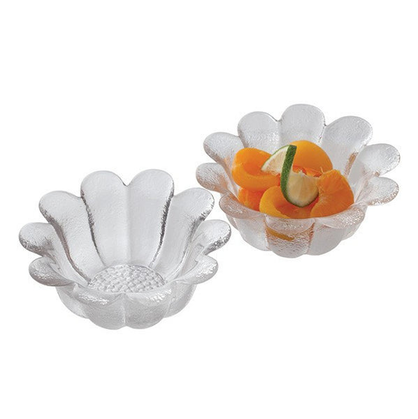 Dartington Crystal Daisy Bowl 18cm (Pair)